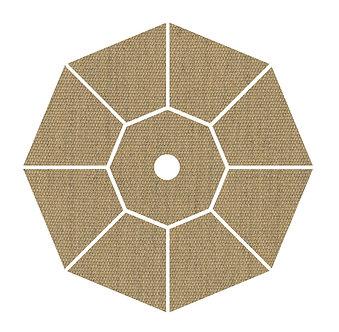 "Sunbrella Fabric - Heather Beige - 4""x 4"" Swatch"