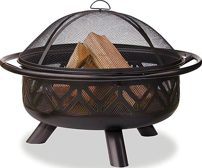 "30"" Geometric Barrel Firepit"