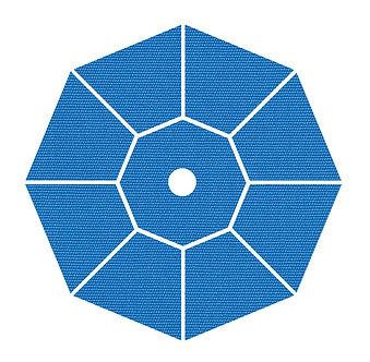 "Sunbrella Fabric - Capri - 4""x 4"" Swatch"