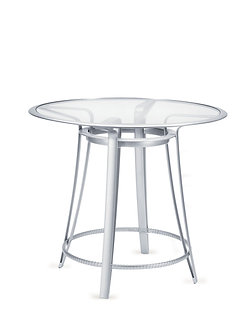 "Softscape 42"" Rd Bar Table w/Glass Top"