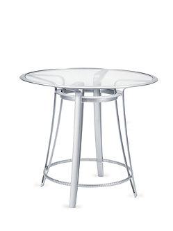 "Flight 42"" Rd Bar Table w/Glass Top"