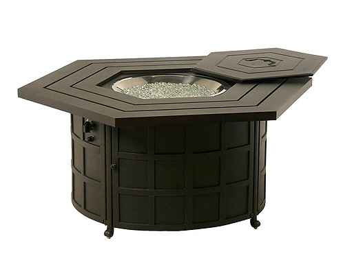 Hexagon Gas Burning Fire Pit Table