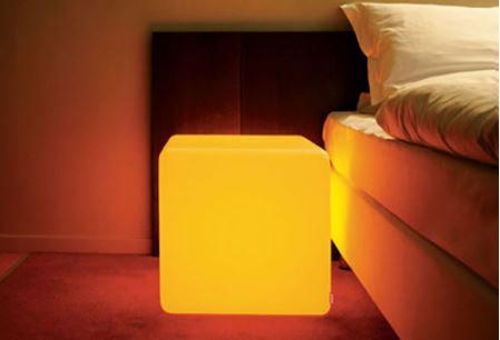 "LED Cube 8"" w/ Bluetooth Speaker"