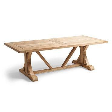 Gloster, Brown Jordan, Kingsley Bate, Barlow, Large Teak Dining Table, Outdoor Support Dining Table