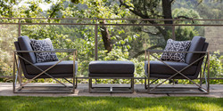 Summer Classics Acero Lounge Chairs and Ottoman