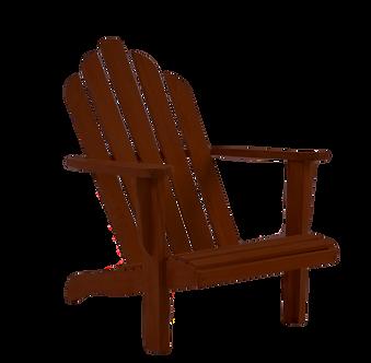 Traditional Mahogany Adirondack Chair