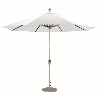 Teak 11' Umbrella with Crank