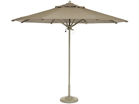 11' Octagon Tuuci Market Umbrella Brown Jordan Fabric