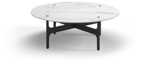 """Grand Weave 39"""" Round Coffee Table w/ Ceramic Top"""