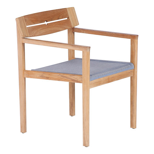 Barlow Tyrie Atom Dining Chair, Atom Dining Armchair