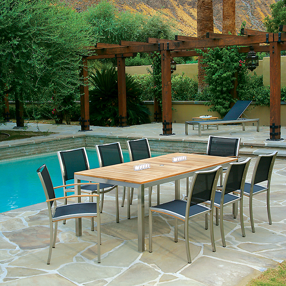 Kingsley Bate Tiburon Dining Table and Dining Chairs
