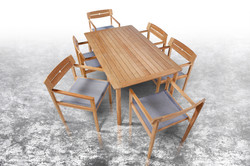 Barlow Tyrie Atom Dining Chairs and Dining Table