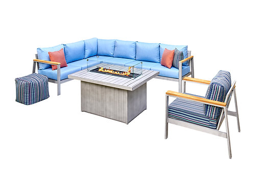Outdoor Classics Hampton 5 Cushion Sectional