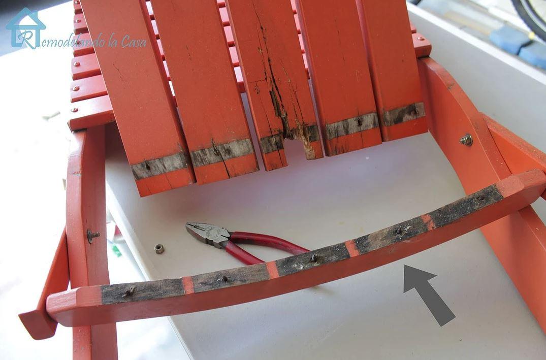 Rotting Wood on Adironack Chair
