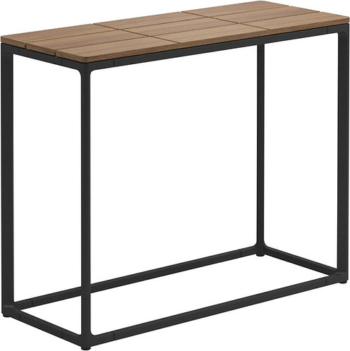 "Gloster Maya 30"" x 12"" Low Console Table Teak"