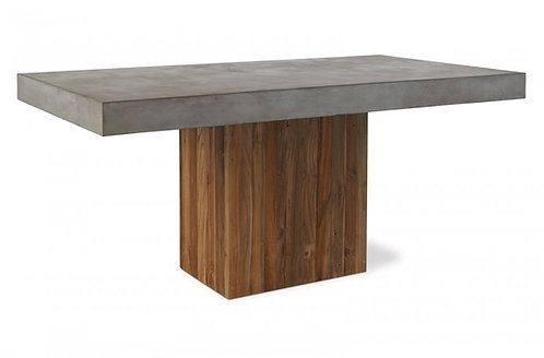 "Concrete 67"" Dining Table with Pedestal Wood Base 67"""