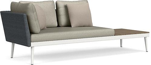 20Twenty Left Arm Sofa w/Driftwood End Table