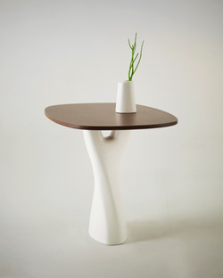 Treeangle table with vase