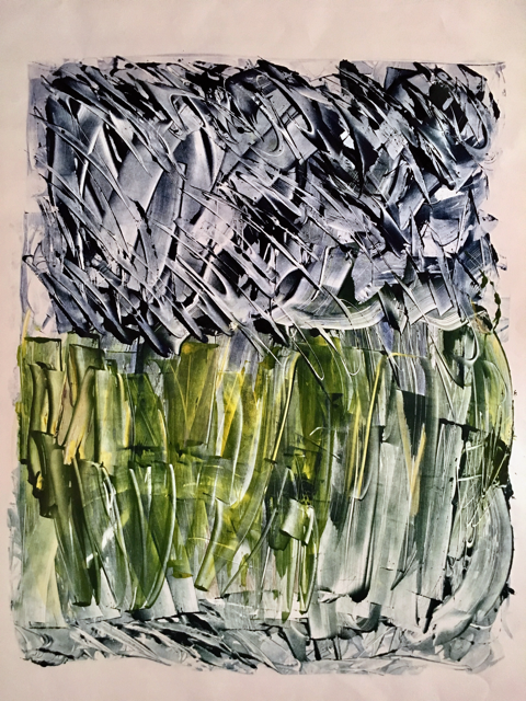Rainstorm Over Cornfields