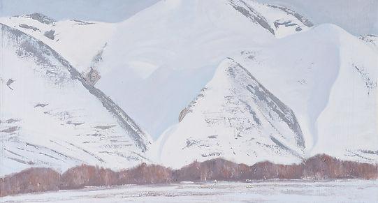 Мартовские горы.   1997  57х73 х.м.JPG