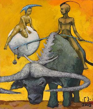Встреча (из серии Желтый мир), 2005г. 95