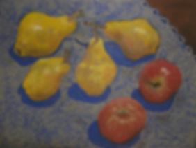 Яблоки и груши. 2009. Бум.,пастель. 22х3