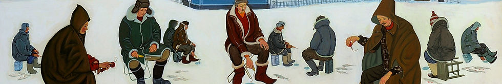 Зимняя рыбалка в Мышкине.    2019  фанер