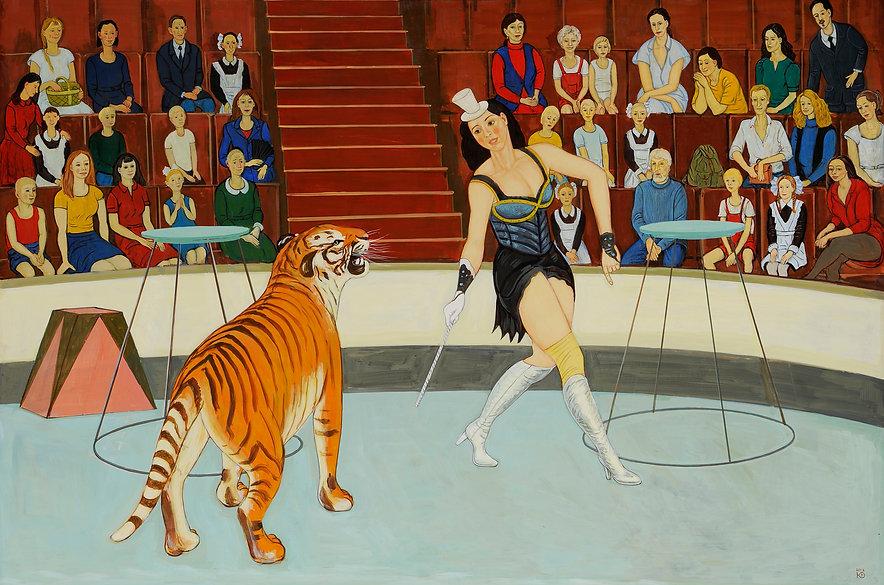 Укротительница тигров.   2019   фанера,