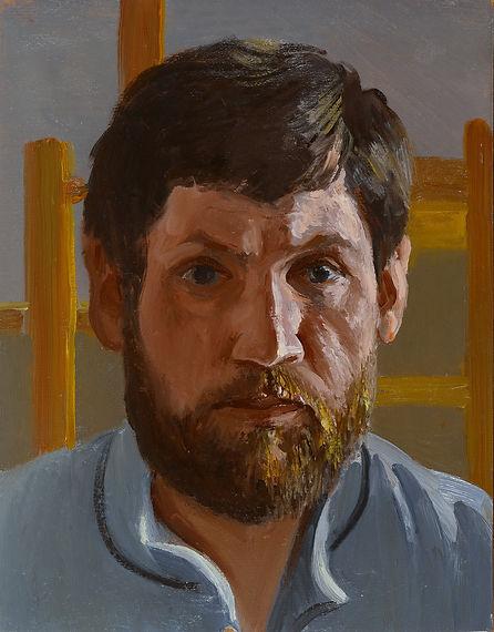33 Масловский А.В. Автопортрет, к.м., 33