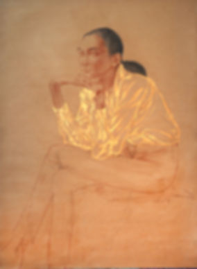 Софья  1998  90х65 бумага, уголь, сангин