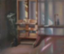Свет из окна.Мольберт.   1981  108х131 х