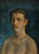 Автопортрет.  1972 - 1977  52х40  к.м.JP