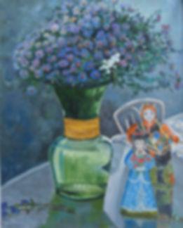 Зеленая ваза.2016. Х.,м. 50х40.JPG