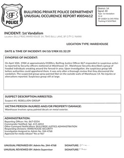 Payload-Police Report