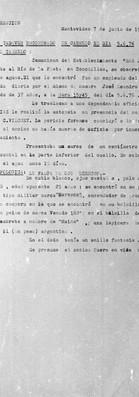 Prefectura de Carmelo, División Información, Montevideo 7 de junio de 1976.  Archivo de la Comisión para la Paz – Carpetas NN.