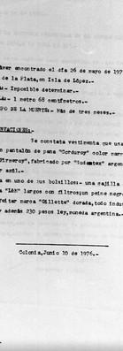 Dirección Dptal de Investigaciones, Policía de Colonia, Colonia, 10 de junio de 1976. Archivo de la Comisión para la Paz - Carpetas NN.
