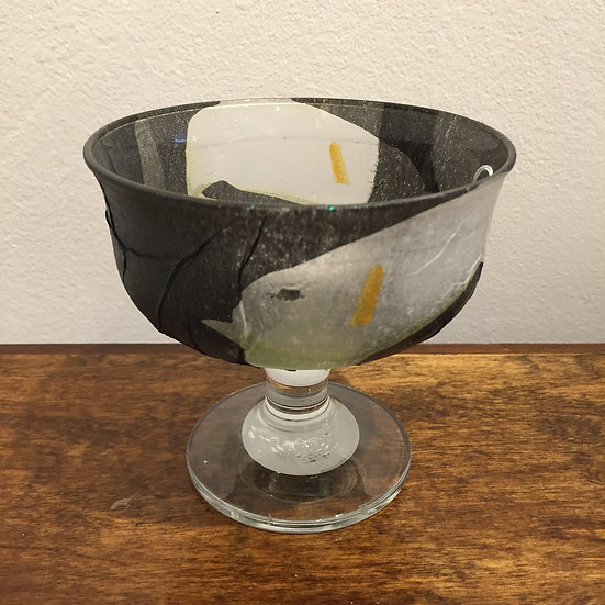 Short Stemmed Glass Black Calla