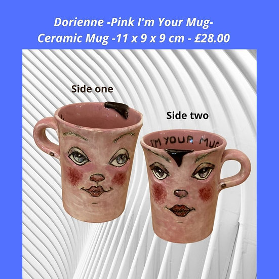 I'm here for you pink mug