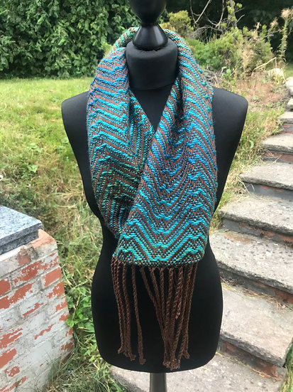 Green and Teal Cowl