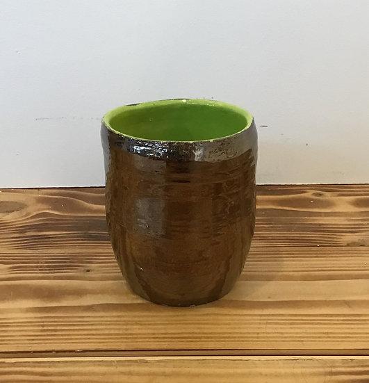 Fools Gold/Lime Green Vase