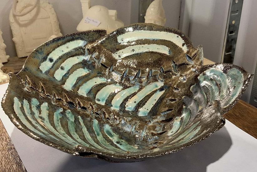 Green Stripe Bowl