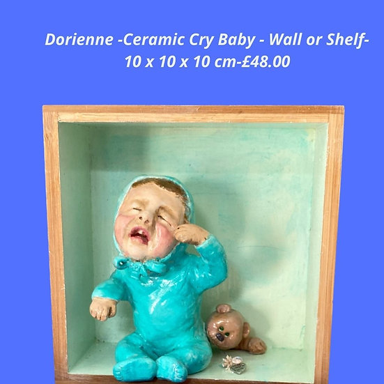 Cry Baby ceramic mix media