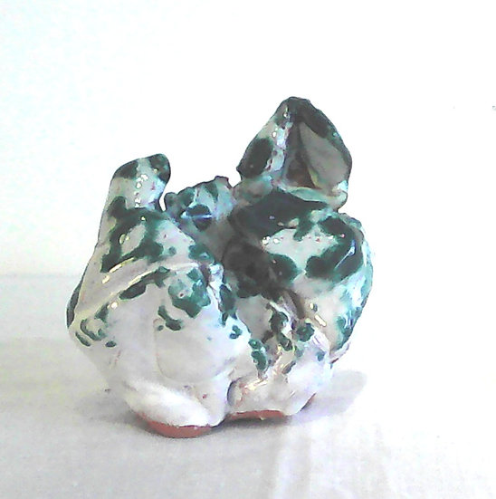 Paperweight Turquoise and White