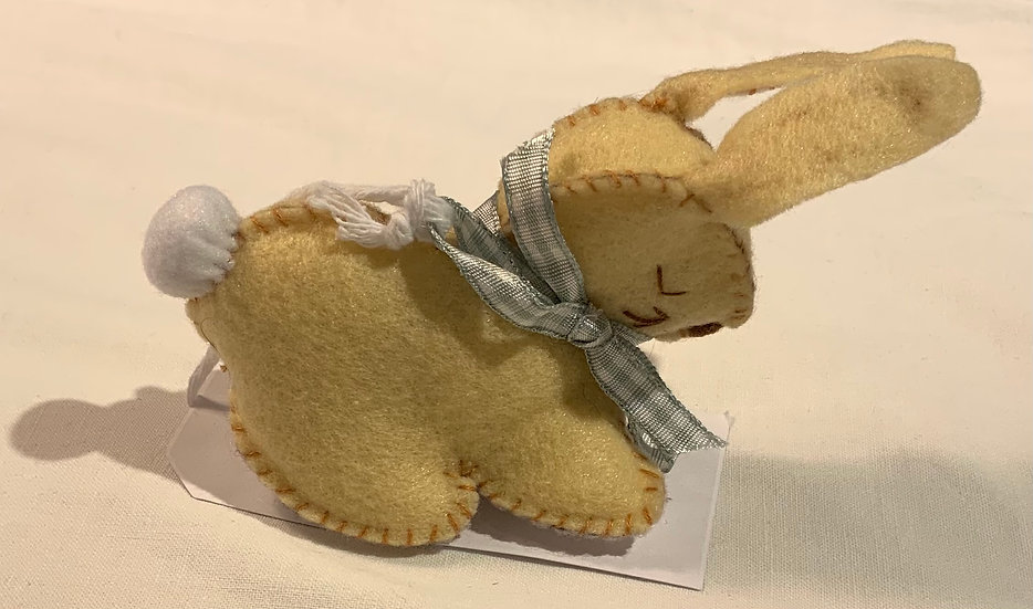 Hand Crafted Fabric Bunny