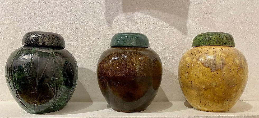 Pete Bishop Spice Jar Metal Green Grey