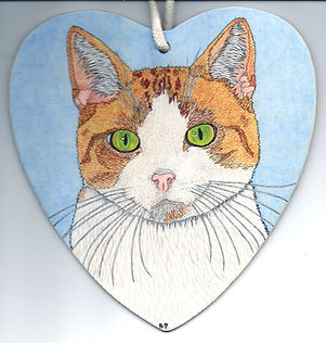 Alison Perkins - Ginger and White Cat -