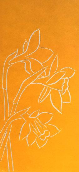 Teresa Newham Lino Print Daffs
