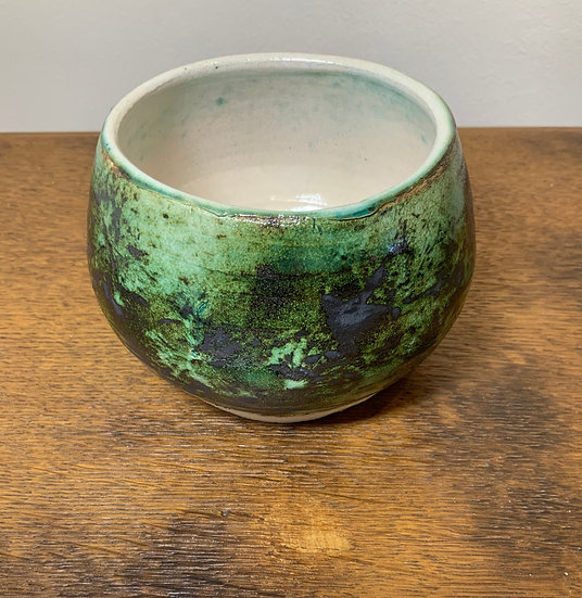 Green Black Rounded Bowl