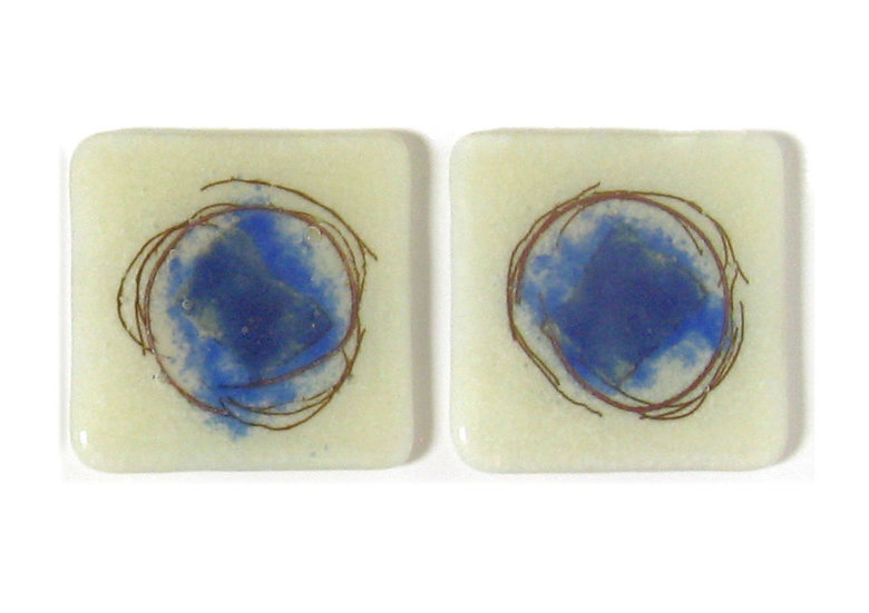 Jenny Hoole - Blue Stripe Coasters