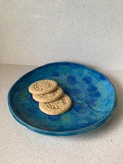 Jackie Harrop Blue Platter